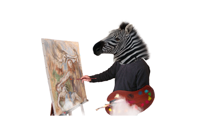 cebra artista