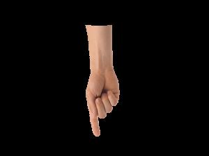 mano señalando