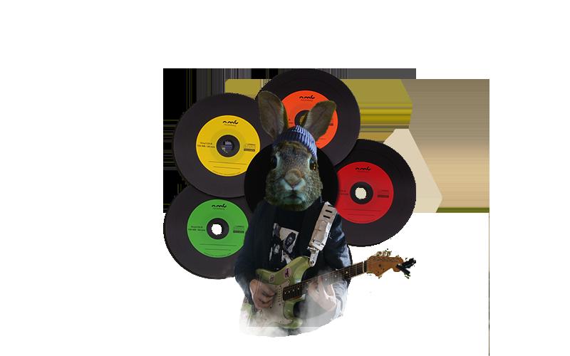 Conejo guitarrista